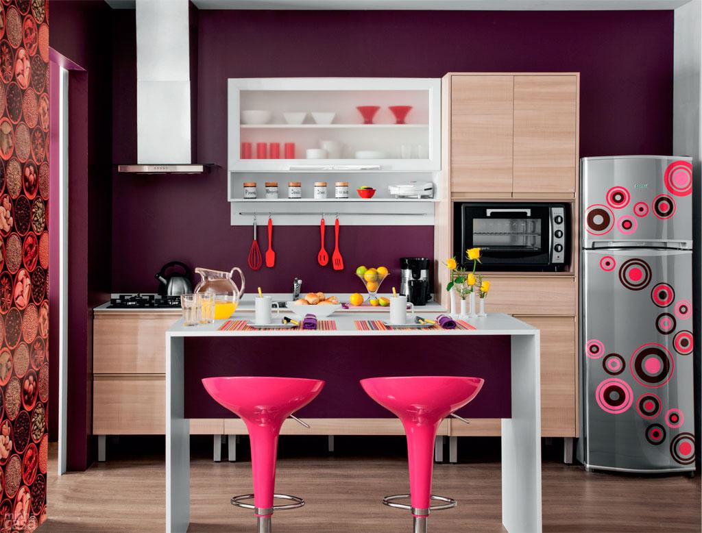 #B91243 Cozinhas Cozinha americana prática e charmosa por 10 x R$ 505  1024x778 px Acabamento Balcão Cozinha Americana_1075 Imagens