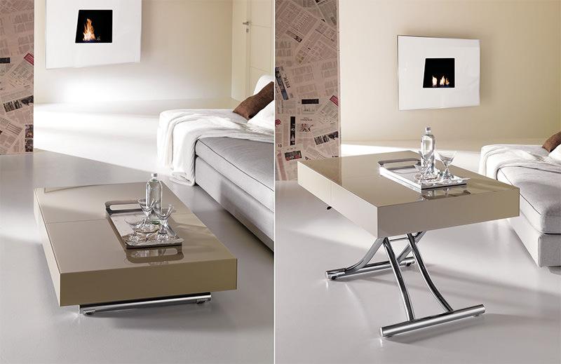 Decora o mesinhas de centro que se transformam em mesa - Mesa que se levanta ...