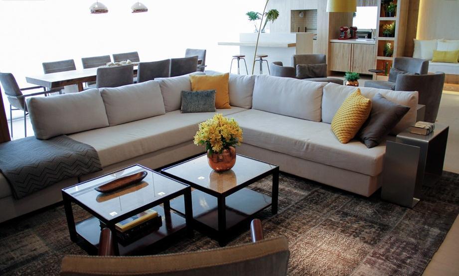 decoracao de interiores mogi das cruzes:em L, da Micasa, define o living no projeto da designer de interiores