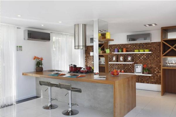 Cozinhas  31 cozinhas americanas projetadas por profissionais do CasaPRO (pa # Ilha Cozinha Em Alvenaria