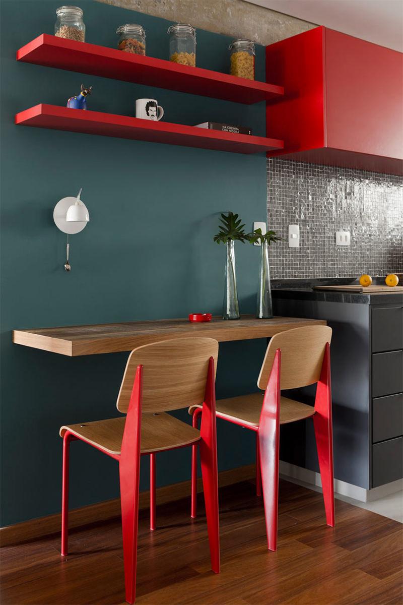 Decora O Um Lindo Apartamento Com Concreto Blog Imperius  ~ Cozinha Cinza Com Vermelho