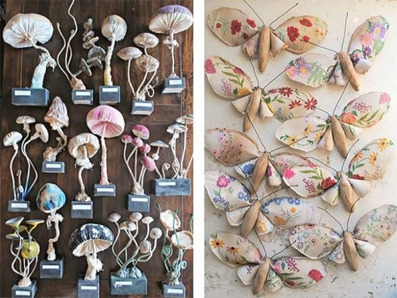 arte animais feitos de tecido vintage
