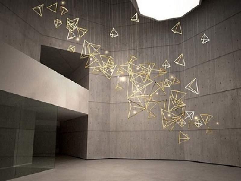 iluminação deslumbre brilhante pendurado no teto