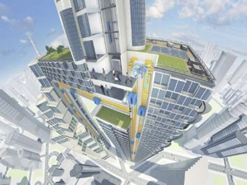 construção thyssenkrupp desenvolve primeiros elevadores que não usam cabo