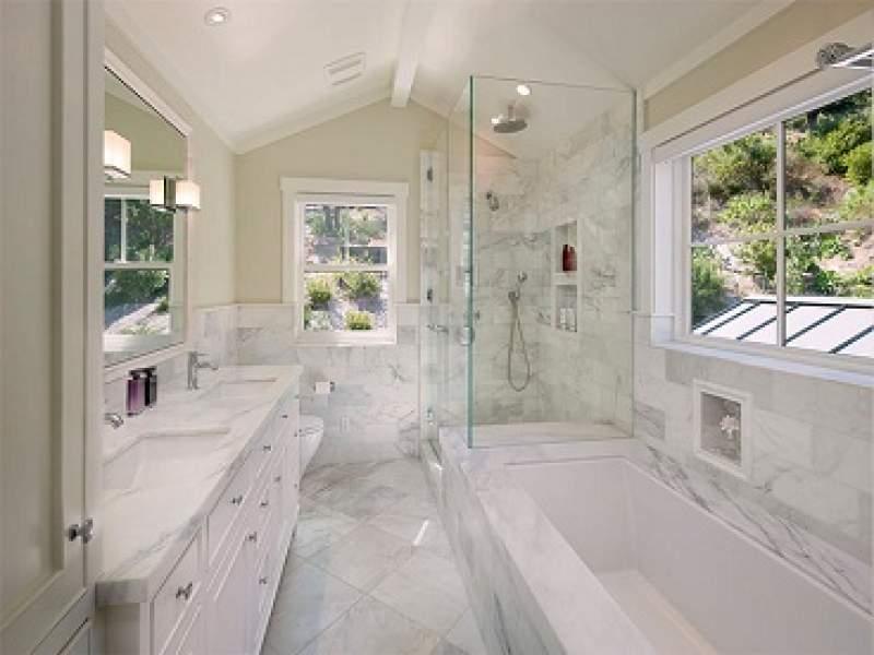 banheiros 25 banheiros com mármore para você se inspirar - parte 2