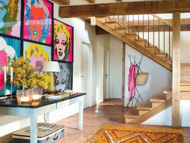 decoração casa de sítio com decoração colorida e apaixonante...