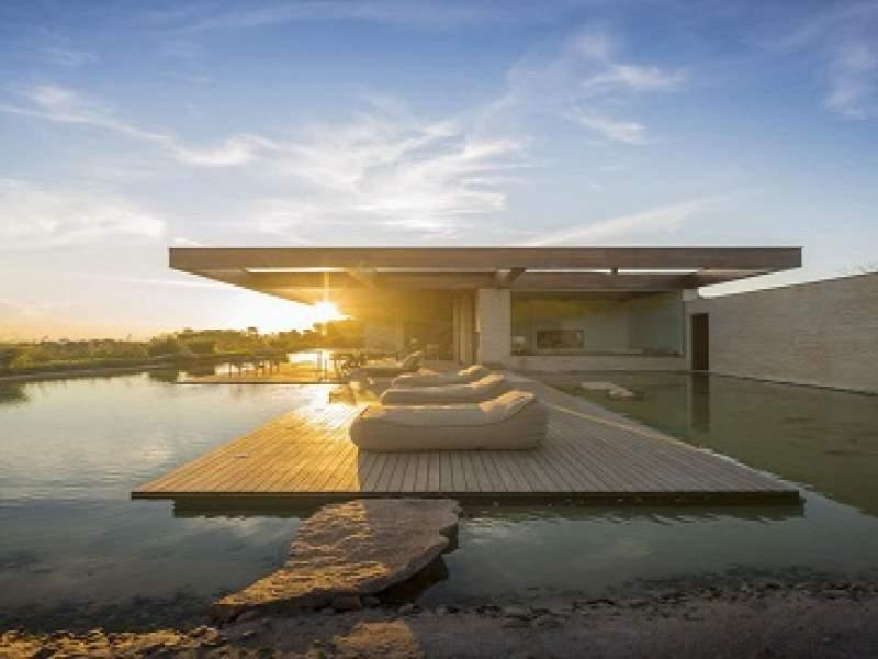 arquitetura incrível casa de veraneio com lago