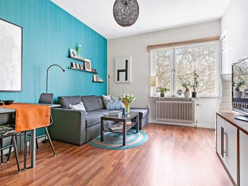 decoração pequeno apartamento colorido de 45 metros quadrados